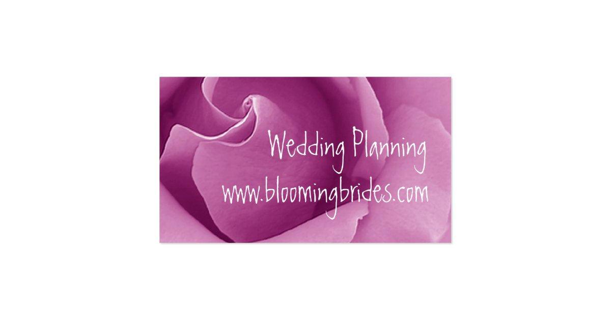 Wedding Planner PINK Rose Business Card Template