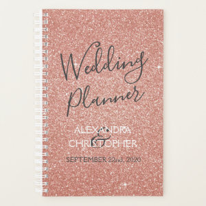 Wedding Planner Pink - Rose Gold Sparkle Glitter