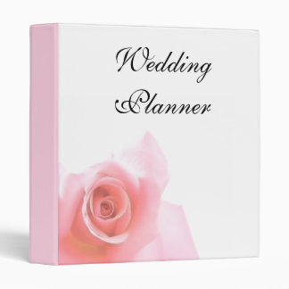 Wedding Planner Pink Rose Wedding Set Binder