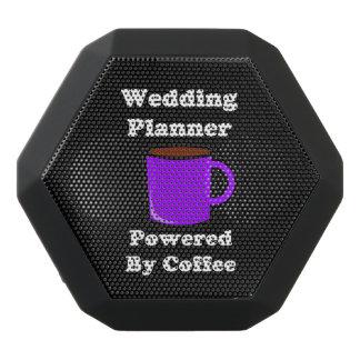 """Wedding Planner"" Powered by Coffee Black Bluetooth Speaker"