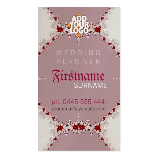 Wedding Planner Royal Business Card