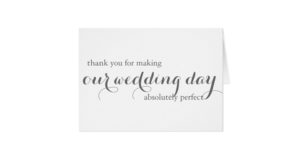 Wedding Planner Thank You Card Zazzle Com