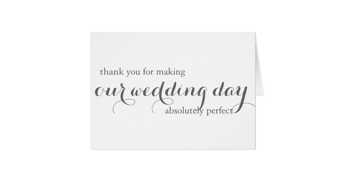 Wedding Planner Thank You Card | Zazzle