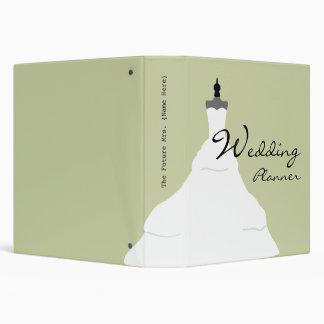 Wedding Planner - Trendy Wedding Dress 3 Ring Binder