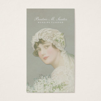 Wedding Planner Vintage Bride Plain Simple Elegant Business Card