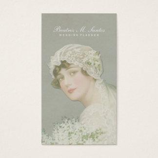 Wedding Planner Vintage Bride Plain Simple Elegant Business Card