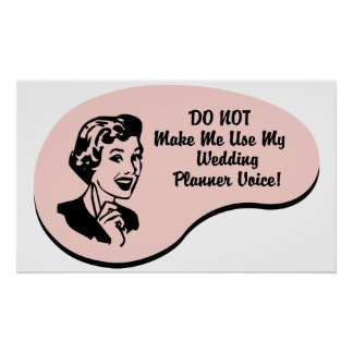 Wedding Planner Voice Posters