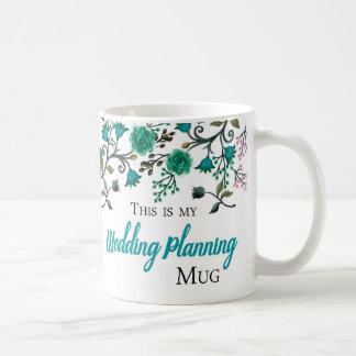 Wedding Planning Mug, Green-Blue tone Coffee Mug