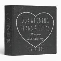 Wedding Plans Ideas Faux Chalkboard Planner Binder