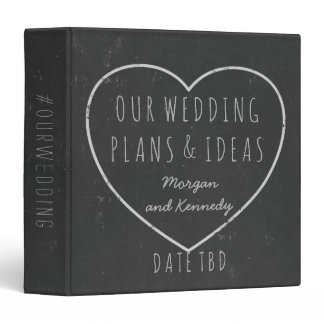 Wedding Plans Ideas Faux Chalkboard Planner Binder