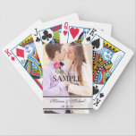 """Wedding Playing Cards with Photo<br><div class=""""desc"""">Wedding playing cards can make a great gift for the bride and groom, a great gift for the wedding party or great wedding favors; and these wedding playing cards are the perfect cards! Featuring your photo as the focal point with a place for you to place the name of the...</div>"""