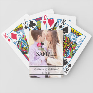 Wedding Playing Cards with Photo