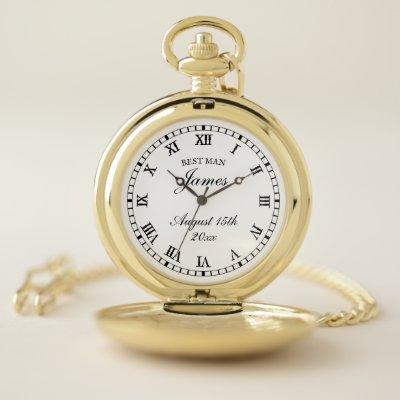 Wedding pocket watch gift for best man & groomsmen
