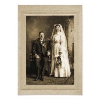 Wedding Portrait 5x7 Paper Invitation Card