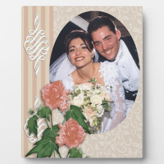 Wedding portrait photo plaque hibiscus