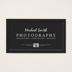 Wedding Portrait Photography Elegant Embossed Look Business Card at Zazzle