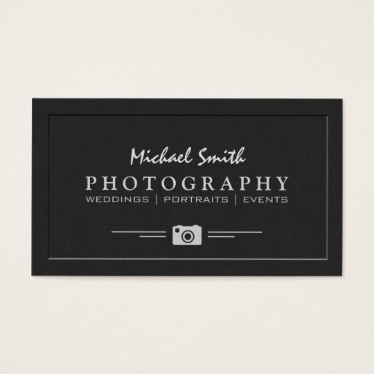 Wedding portrait photography elegant embossed look for Portrait business cards
