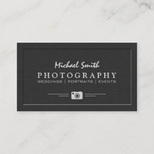 Wedding business cards zazzle wedding portrait photography elegant embossed look business card colourmoves