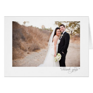 Wedding Portrait Thank You Card San Francisco