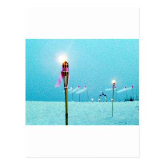 Wedding Postage Beach Scene Postcard