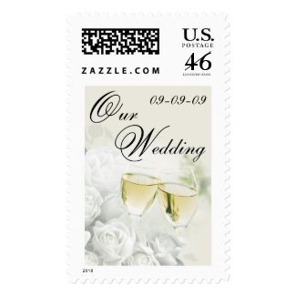 Wedding Postage - Champagne Toast Stamp stamp