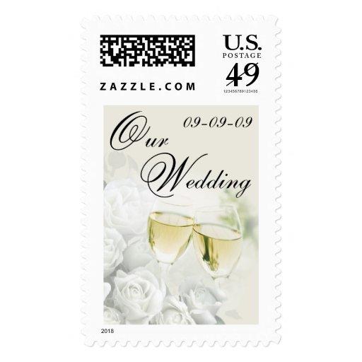 Wedding Postage - Champagne Toast Stamp