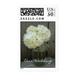 Wedding Postage - Hydrangeas In A Jar