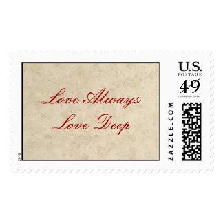 Wedding Postage - Love Always Love Deep
