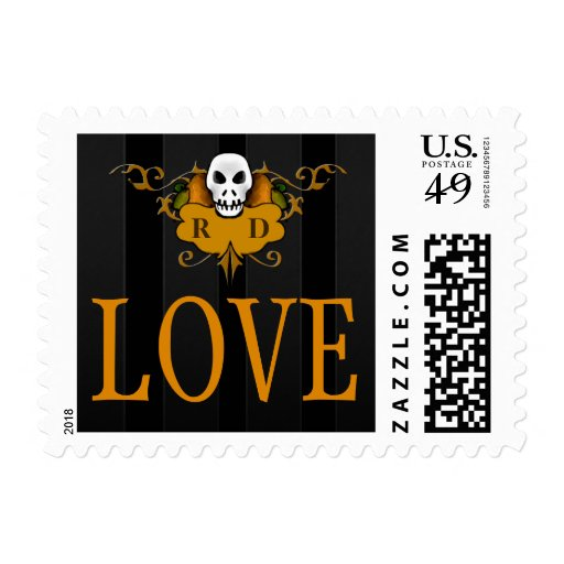 Wedding Postage LOVE - Halloween Skull