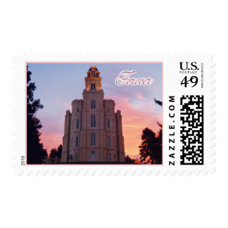 Wedding Postage: Manti Temple Wedding Stamp, LDS T Postage