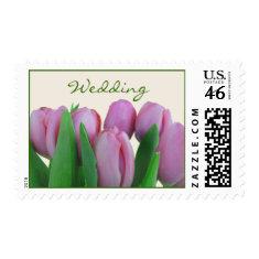 Wedding Postage - Pink Tulips