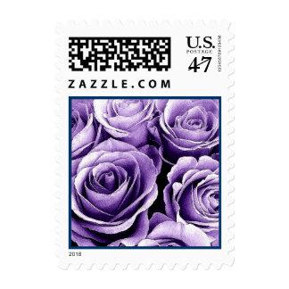 Wedding Postage PURPLE Roses Customizable Stamp