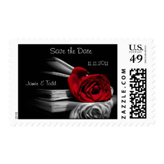 Wedding Postage - Save the Date, Red Rose