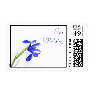 Wedding Postage Stamp - Purple Iris Flower