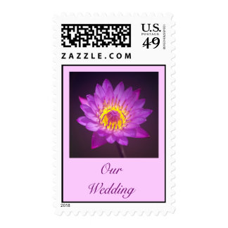 Wedding Postage Stamp - Purple Lotus Flower