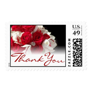 Wedding postage stamps Thank You