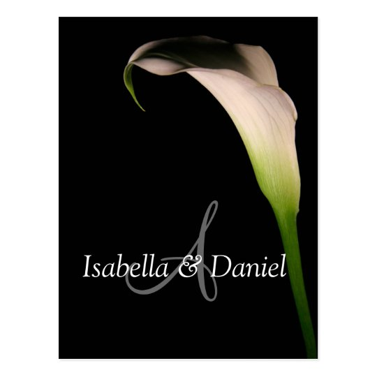 Wedding Postcards Calla Lily A Monograms