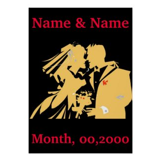 Wedding Poster, Edit Text