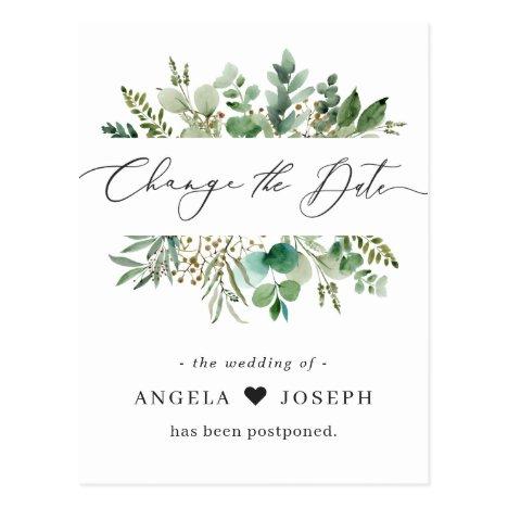 Wedding Postponed Announcement Change the Date Postcard