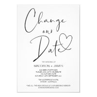 Wedding Postponed Notice, Change our Date Wedding Invitation