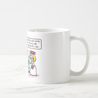 wedding priest miranda warning coffee mug