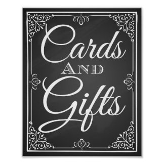 """Wedding print """"Card and Gift table sign"""