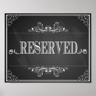 "Wedding print chalkboard ""Reserved"" table vintage"