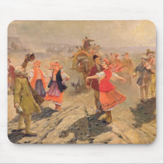 Wedding procession in the Orel region Mouse Pad