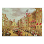 Wedding Procession of Edward, Prince of Wales Greeting Card