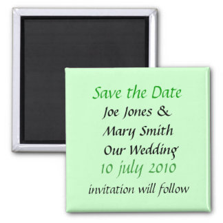 WEDDING PRODUCTS 2 INCH SQUARE MAGNET