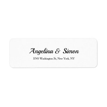 Professional Business Wedding Professional Creative Elegant Handwriting Label