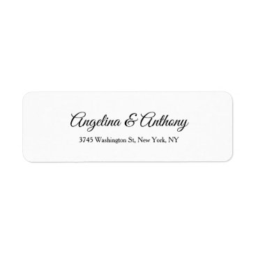 Professional Business Wedding Professional Creative Script  Black White Label