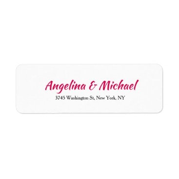 Professional Business Wedding Professional Creative Script  White Modern Label