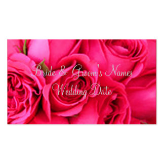 Wedding Profile Card Templates Double-Sided Standard Business Cards (Pack Of 100)